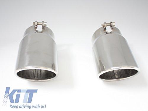 Preisvergleich Produktbild KITT TY-D022 Auspuffblende Endrohre Auspuff Edelstahl Endrohr