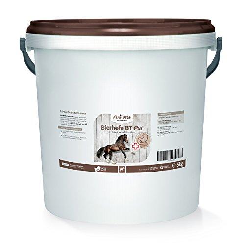 AniForte Bierhefe BT Pur 5 kg für Pferde - Naturprodukt für Haut & Fell, Glänzendes und kräftiges Haarkleid - Unterstützt die Verdauung
