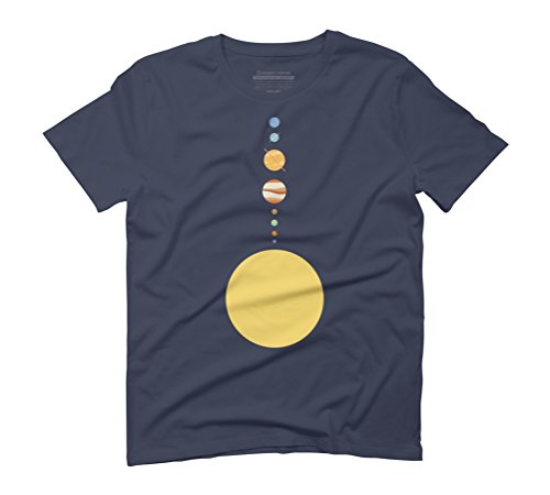 Solar System Men's Graphic T-Shirt - Design By Humans Navy