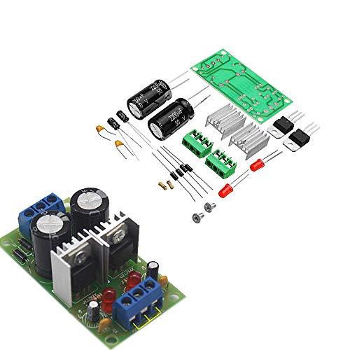 LaDicha 5Stk DIY Lm7812+Lm7912 Dual Voltage Regulator Rectifier Bridge Power Supply Module +/- 12V Kit Dual-power-accessoire