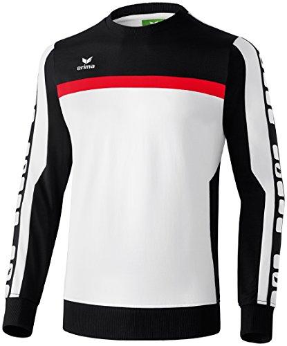 CLASSIC 5-CUBES Sweatshirt Weiß/Schwarz/Rot