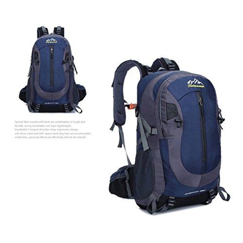 40l Il nuovo marchio del professionista arrampicata all'aperto borsa sportiva borsa da viaggio sacchetto di acqua di guida repellente blu marino