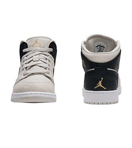 Nike 554725-009, Scarpe da Basket Bambino Beige/nero