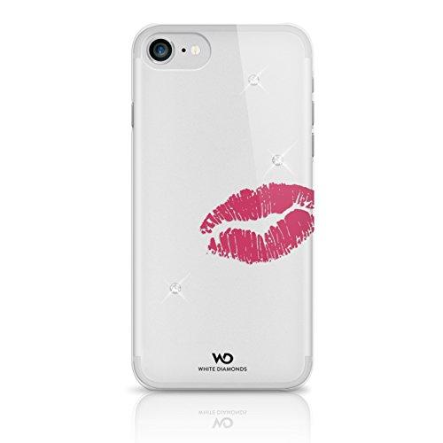 White Diamonds Swarovski Glas Lipstick Kiss Schutzhülle für Apple iPhone 7 - Swarovski Crystal Iphone Case