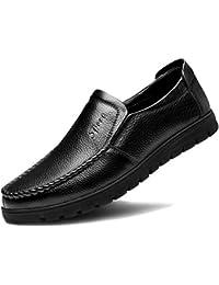 DAN Mocasines Para Hombres Mocasines Casuales Ligeros Suela Blanda Calzado De Conducción Pisos De Cuero Zapatillas