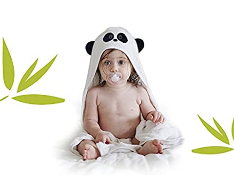 Serviette et serviette de bébé à capuchon de luxe By BamBubu - Hooded Baby Towel Fabriqué à partir de bambou biologique   Antibactérien et Hypoallergénique   Extra Soft   Ensemble cadeau bébé pour nourrissons et tout-petits   Taille 75cm x 75cm - 400gsm