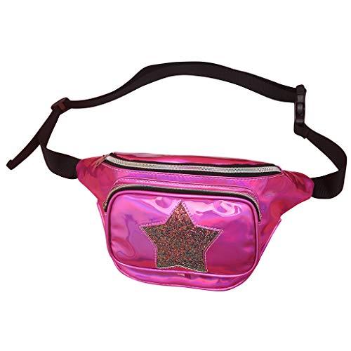 Bauchtasche Kinder Modern Brusttasche Damen Mädchen Clutch Glitzer Handtasche Trachtentaschen Umhängetasche Dirndl Bumbag Gürteltasche Hüfttasche Botetasche für Mädchen