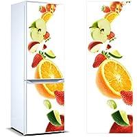 Pegatinas Vinilo para Frigorífico Frutas | Varias Medidas 185 x 60 cm | Adhesivo Resistente y de Fácil Aplicación | Pegatina Adhesiva Decorativa de Diseño Elegante