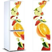Pegatinas 3D Vinilo para Frigorífico Frutas  Varias Medidas 185x70cm   Adhesivo Resistente y de Facil Aplicación   Pegatina Adhesiva Decorativa de Diseño Elegante 