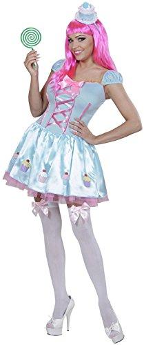 Widmann 01742 - Erwachsenenkostüm Candy Girl, Kleid und Minihut