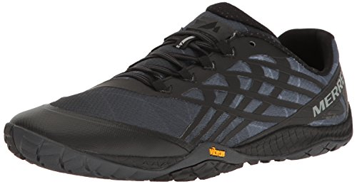 Merrell Glove 4, Scarpe da Trail Running Uomo, Nero (Space Black), 43.5 EU