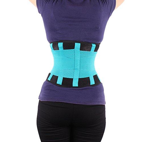 FeelinGirl Fitnessgürtel Sport Rückenbandage Rückenstütze - Hochwertig Atmungsaktiv mit Doppelzug zur elastischen Kompressio Grün