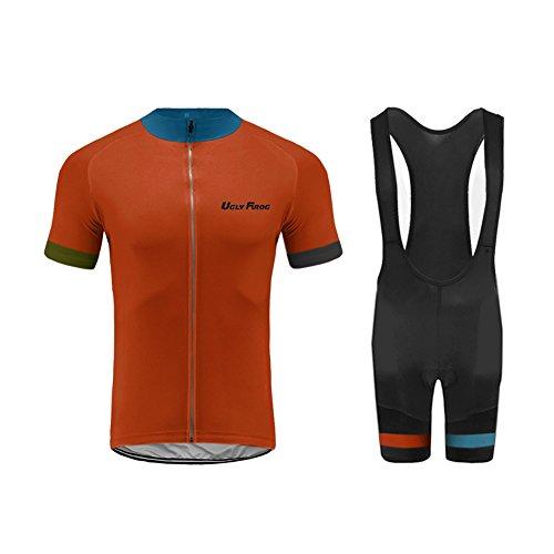 UGLYFROG Bike-T Full Zip Radsport Trikots+Bib Kurze Hosen Herren Cyling Anzüge #H35