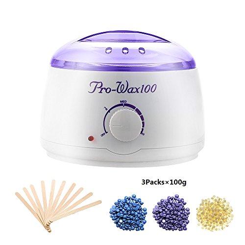 Wachs-Schmelztiegel Wachs-Enthaarungsmaschine, Minilop Wachs-Wärmer Elektrische Haarentfernung und Heizung für alle Wachs-Typen mit Hartwachs-Bohnen (Schmelztiegel Wärmer Für Wachs)