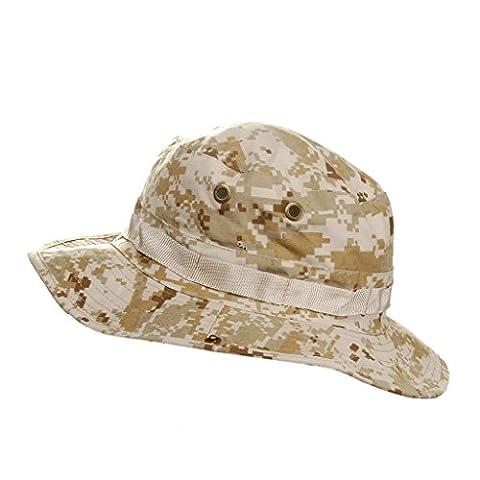 MerryBIY Sports et Extérieur Sun-shading Chapeau Bucket Hat Boonie Camping Chasse Pêche Vert Armée Jungle camouflage Unisex Cap Été Soleil Plage Casquette (Desert Digital)