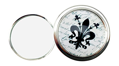 Value Wert Arts Klappbarer Lupe Briefbeschwerer von, Schwarz und Weiß Fleur de Lis, 2.5D -