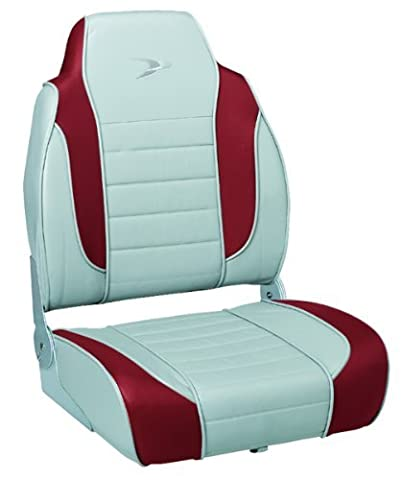 Wise 8WD892 Series Striped High Back Boat Seat, Marble-Dark Red by Wise