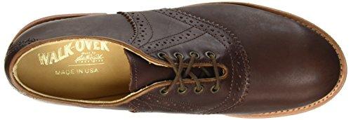 WALKOVER Saddle Vibram, Chaussures à Lacets Homme Marron
