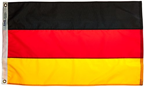 Annin Flagmakers Nylon SolarGuard NYL-Glo Deutschland Flagge 2x3 ft. 100% Made in USA to Official United Nations Design Specifications (United Nations-flag)