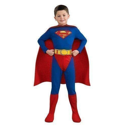 enziert klassisch Superman Hero Buch Tag Kostüm verkleiden Outfit 3 - 10 Jahre - Blau, Blau, 8-10 Years (Kinder-superman-outfit)