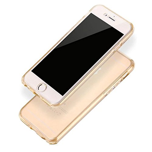 iPhone SE Hülle, iPhone 5s Silikon Hülle, iPhone 5 TPU Hülle, Vandot Double Gradient Farbe Schutzhülle für iPhone SE 5S 5 Full Body Case Cover Touchscreen Bunt TPU Silikon Weich Transparent Beidseitig Transparent-Or