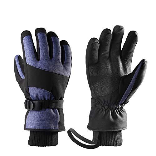 YOGANHJAT Guanti Touchscreen da Uomo Winter Running Guanti Sportivi Elastici Antivento Leggeri Antiscivolo Sport da Caccia all'aperto Campeggio Caldo,Viola,L