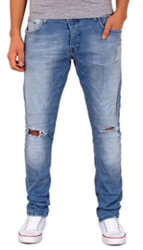 by-tex Herren Jeans Hose Slim Fit Jeanshose Destroyed Used Look Jeans A426 A426