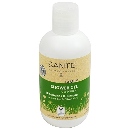 SANTE - Gel Douche Bio Ananas et Citron - Nettoie en douceur tout en hydratant la peau - Vegan et sans gluten