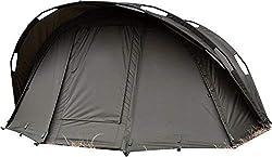Carpline24 Angelzelt Economic 1-Mann-Bivvy I stabiles 1-Mann-Karpfen-Zelt wasserdicht 10.000mm Wassers/äule I schneller Aufbau I leichtes Fishing Tent I Outdoor Camping I 290x230x130cm 10kg