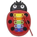 Kalaok Colorido 5 Tonos Niños Niños Xilófono Glockenspiel Forma Mariquita de Dibujos Animados con...