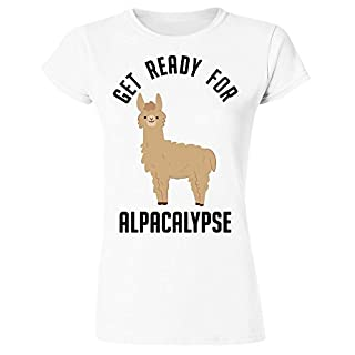 idcommerce Get Ready for Alpacalypse Damen T-Shirt Small