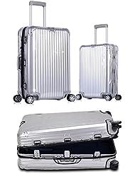 ankoy Schutzhülle für Gepäck / Koffer, PVC, transparente Schutzhülle mit Kette, passend für Rimowa Aluminium TOPAS-Serie