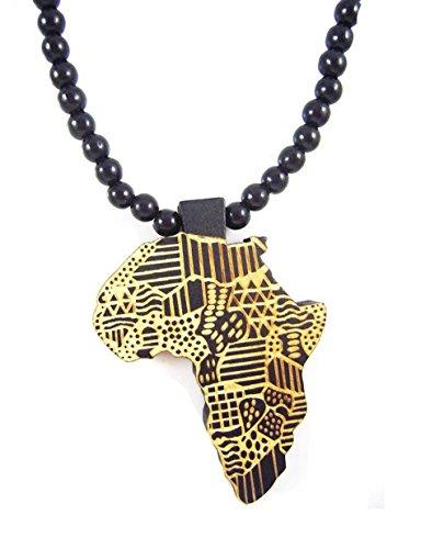 Fengteng Mapa de África Colgante Collar De...