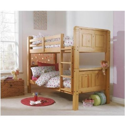 Cloudseller 3FT SOLID PINE BUNK BED IN WAXED FINISH SPLIT INTO TWO BEDS EXCELLENT QUALITY - low-cost UK Bunkbed store.