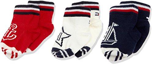 Tommy Hilfiger Unisex Baby Socken TH BABY NEWBORN GIFTBOX 3P, Mehrfarbig (Midnight Blue 563), Neugeboren (Herstellergröße: 14) (Baby Tommy Neugeborene Jungen Hilfiger)