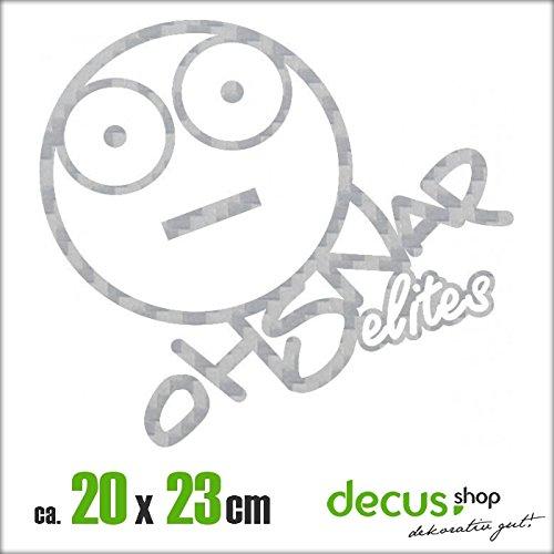 OH SNAP ELITES XL 2267 // Sticker OEM JDM Style Aufkleber (Carbon Silber) (Carbon Snap Star)