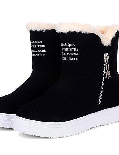 ShangYi Mode Frauen Schuhe Damen Schuhe Herbst/Winter Combat Boots PU-Outdoor / Kleid / and andere Ferse flach Schwarz / Braun / Rot Andere Braun