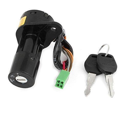 Vier Drähte Sicherheit Elektrische Tür Lock Schwarz für Motorrad Suzuki