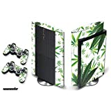 #10: PS3 SuperSlim Console + Controller Skin - Weeds/White