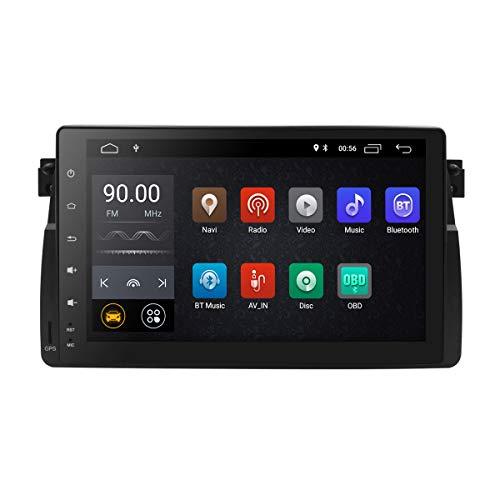 22,9 cm Quad Core Android 8.1 Autoradio Doppel DIN Stereo für BMW E46 Serie unterstützt GPS Navigation SWC Auto Radio Audio Video WiFi 4 G USB SD cam-in OBD2 DAB +