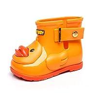 BaojunHT Animals Cartoon 3D Duck Kids Wellies Durable Sole Childrens Wellington Boots Buckle Toddler Rain Shoes for School Walking Outdoors