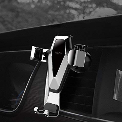 Schwerkraft KFZ Handyhalterung Auto, ROCK 360 Grad Drehbar Universal Smartphone Halterung Auto Handyhalter Autohalterung fürs Auto Lüftungsschlitz Belüftung für iPhone,Samusung,Huawei,LG (Grau)
