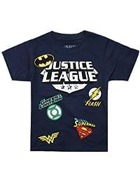 DC Comics Justice League Patches, T-Shirt Bambino