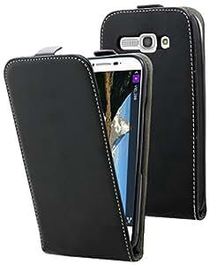 Etui Alcatel One Touch Pop C9 - Housse ultra fine noire avec coque de protection intégrée pour Alcatel One Touch Pop C9 . Interieur beige doux pour ne pas rayer l'écran de votre Alcatel One Touch Pop C9
