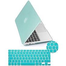 Yarrashop 2in1Funda de Carcasa rígida de goma mate funda protectora para MacBook Air 11/11,6pulgada con diseño Proctective teclado cubierta verde verde claro Macbook Pro 15/15.4 Inch
