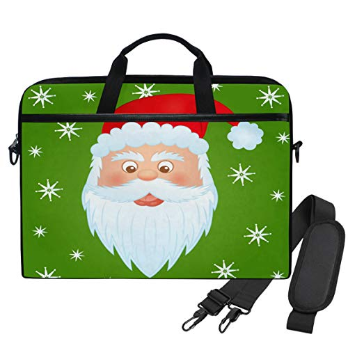 Emoya Laptopn Tasche Santa Claus Snowflake Messenger Laptop Schultertasche kompatibel 33,3-35,6 cm Computer -