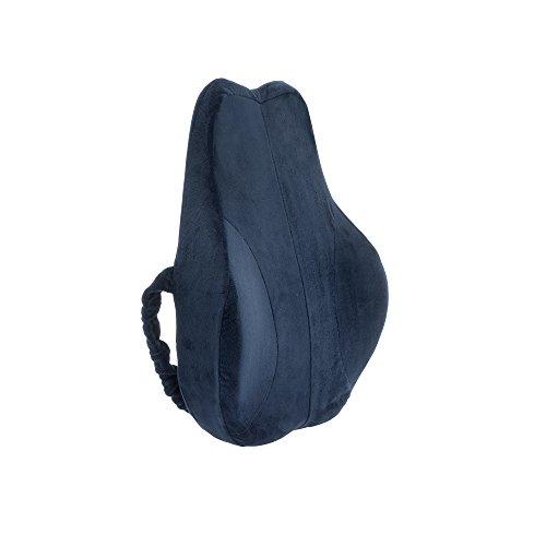 Hilfe bei Rückenschmerzen Bandscheibenleiden Hexenschuss! Orthopädisches Rückenkissen von Salosan® Ergonomisch geformter Visco-Gelschaum für gerades und schmerzlinderndes Sitzen.