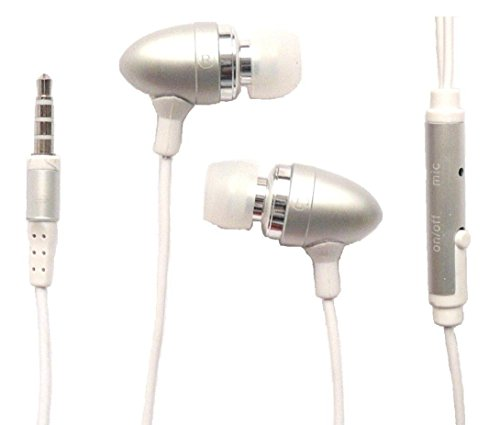 X1 Mobile Headset (Emartbuy® Silber In Ear Kopfhörer Headset mit Mikrofon Suitable For Coship Mobile Moly X1 / Coship Mobile X5)