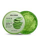 300 ML Gel d'Aloe Vera Bio - AKIMO Crème Hydratante Naturelle, Hydratant pour Visage...