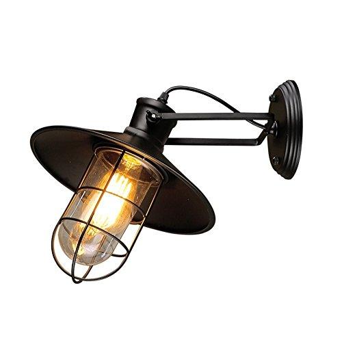 Vintage Wandleuchte, Frideko Retro Industrie Metall Glas Wandlampe Deko für Loft Schlafzimmer Bar Cafeteria